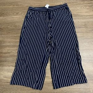 Blue and white striped J Crew pants